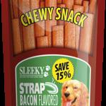 ขนมสุนัข SLEEKY ชิววี่สแน็ค รสเบคอน (แบบแผ่น-ห่อใหญ่ 175 กรัม)