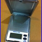 เครื่องชั่งดิจิตอลแบบพกพา เครื่องชั่งพกพา Pocket Scale 200gความละเอียด0.01g (ฝาพับหนังสีดำ ขนาดพกพา ราคาพิเศษ)