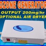เครื่องผลิตโอโซน ใช้ได้ทั้งน้ำและอากาศ ผลิตโอโซนอากาศ ผลิตโอโซนน้ำให้มีโอโซนบริสุทธิ์ Ozone Generator Ozonizer Redox Purifier Water 200mg/h 220V