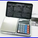 เครื่องชั่งดิจิตอล เครื่องชั่งพกพา Pocket Scale 500g ความละเอียด 0.01 New Design! 6IN1 Mini Digital Scale Calculator Clock Thermometer LCD Weighing