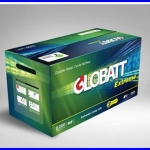 GLOBATT EXTREME PLUS แบตเตอรี่สำหรับเก็บพลังงานแสงอาทิตย์ ชนิด Deep Cycle Extreme จ่ายกระแสไฟ (CCA) GLOBATT EXTREME PLUS E2250 200AH