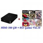 External HDD 500GB + Games PS3 Vol.10 (CFW3.55+) [ส่งฟรี EMS]