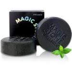 พร้อมส่ง APRIL SKIN Magic Stone Black (100% Natural Soap)สบู่สูตรผงถ่านไม้ธรรมชาติ