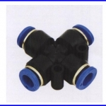 ขั้วต่อลม ข้อต่อลม อุปกรณ์ลม SPXL-4 SPXL series union cross(จำนวน10ชิ้น)