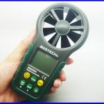 เครื่องวัดความเร็วลม มิเตอร์วัดความเร็วลม เครื่องวัดลมใบพัดในตัว มิเตอร์วัดลม MS6252A Digital Anemometer Air-Velocity/Flow humidity hd