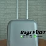 กระเป๋าเดินทางล้อลาก 2 ล้อ ขนาด 16 นิ้ว สีเงิน ผิวหยาบ