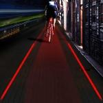 ไฟท้ายจักรยาน ให้แสงสว่างไกล ด้วยไฟ SUPER LED 5ตัว และ Laser 2ตัว สร้างเลน