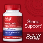 *หมดค่ะ*Schiff Melatonin Ultra 365 Tablets แพคเกจใหม่ล่าสุด วิตามินคลายเครียด ช่วยให้นอนหลับสบาย จากอเมริกาค่ะ