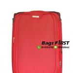 กระเป๋าเดินทาง 4 ล้อลาก ผ้า สีแดง ขนาด 20 นิ้ว