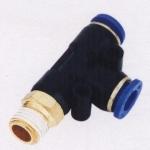 ขั้วต่อลม ข้อต่อลม อุปกรณ์ลม SPD4-01 SPD series male run tee(จำนวน10ชิ้น)