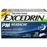 Excedrin PM Headache 24 เม็ด ยาแก้ปวด พร้อมทั้งช่วยให้หลับสบาย จากอเมริกาค่ะ