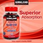 *หมดค่ะ*Kirkland Krill Oil Omega 3 & Astaxanthin 160 Softgels น้ำมันกุ้งแดงจากอเมริกาค่ะ