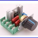ดิมเมอร์อุปกรณ์ไฟฟ้า ควบคุมความเร็วมอเตอร์ ควบคุม เอซีมอเตอร์220V 2000W Speed Controller SCR Voltage Regulator