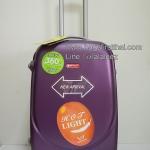 กระเป๋าเดินทางล้อลาก N012 ไฟเบอร์ ขนาด 24 นิ้ว สีม่วง