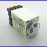 เครื่องหน่วงเวลา ตั้งเวลาแบบอนาล็อก พร้อมฐาน AC220V Power Off Delay Timer Time Relay 0-60S ST3PF With Base