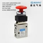 SDPC pneumatic control valve 3 ways mushroom button รุ่น JM-03
