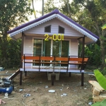 2-001 บ้านน็อคดาวน์ - ทรงจั่วมุกซ้อน - 3x5 เมตร