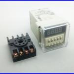 เครื่องตั้งเวลาดิจิตอล ตั้งเวลาเปิดปิดอุปกรณ์ ตั้งเวลา วินาที นาที ชั่วโมง Digital timer power on delay DH48S-1Z AC220V