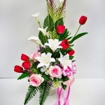 แจกันดอกไม้ประดิษฐ์ลิลลี่ขาวใหญ่ รหัส 4008