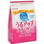 แพคเกจใหม่ล่าสุด Refill Lotte Collagen 5,000 mg. มีส่วนผสมของ Vitamin C,ไฮยารูลอน,รกแกะ ขนาด 215 g ทานได้ 32 วันเพื่อผิวสวย สดใส ผิวสวยอมชมพูดูสุขภาพดีจากญี่ปุ่นค่ะ