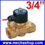 """โซลินอยด์ปิดเปิดวาวล์น้ำด้วยไฟฟ้า Electric Solenoid Valve Magnetic 220V Water Air Inlet Flow New Switch 3/4"""""""