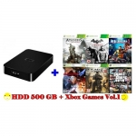 External HDD 500 GB + Xbox360 Games Vol.1 (for RGH)