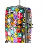 กระเป๋าเดินทางลายเครื่องหมายจราจรขนาด 29 นิ้ว