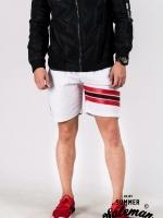 กางเกงขาสั้น พรีเมี่ยม ผ้า COTTON รหัส SST 222 TAX JAP Red สีขาว แถบแดง