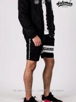 กางเกงขาสั้น พรีเมี่ยม ผ้า COTTON รหัส SS T215 TAX W สีดำ แถบแท็กขาว SUMMER SALE