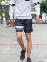 กางเกงขาสั้นยีนส์ Y210 ยีนส์เทาดำ SUMMER SALE