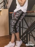 กางเกง Jogger ขาจั๊ม สามส่วน ผ้าวอร์ม WT381 TAX Panther B เสือดำ SUMMER SALE