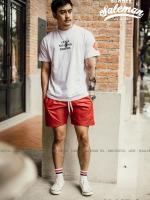 กางเกงขาสั้น พรีเมี่ยม ผ้า COTTON รหัส SS 217 zip สีแดงสด