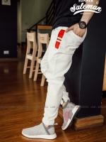 กางเกง JOGGER พรีเมี่ยม ผ้า COTTON รหัส SS 622 WHITE