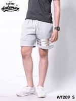 กางเกงขาสั้น พรีเมี่ยมวอร์ม รหัส WT209 S สีเทาอ่อน แถบเงิน SUMMER SALE