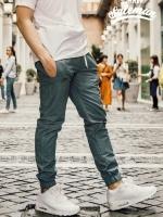 กางเกง JOGGER พรีเมี่ยม ผ้า COTTON รหัส SS616 เทาควัน