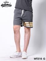 กางเกงขาสั้น พรีเมี่ยมวอร์ม รหัส WT210 G สีเทาเข้ม แถบทอง SUMMER SALE
