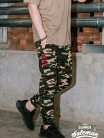 กางเกงขายาว พรีเมี่ยม ผ้า COTTON รหัส WT680 CLAW PANT สีทหารเขียว เล็บเสือดำ SUMMER SALE