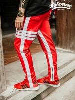 กางเกง ขายาว พรีเมี่ยม ผ้า วอม รหัส wt 617 tax 3bar w แดงแถบขาว