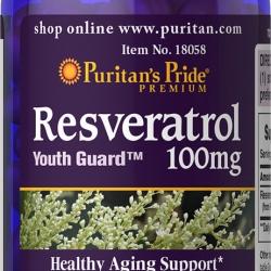 Puritan's Pride Resveratrol 100 mg 120 softgels วิตามินฟื้นฟูสภาพผิว ต่อต้านริ้วรอยค่ะ