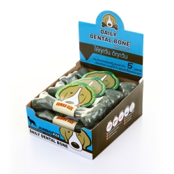 PET2GO ขนมขัดฟันสุนัข เดลี่ เดนทัลโบน รสคลอโรฟิลล์ 175g (12ชิ้น/กล่อง)