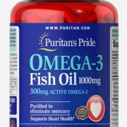 Puritan's Pride OMEGA-3 Fish Oil 1000 mg (300 mg Active OMEGA3) 100 softgels น้ำมันปลา จากอเมริกาค่ะ