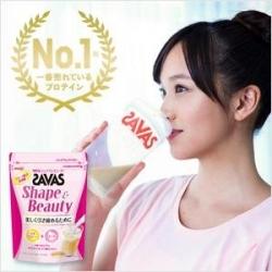 Meiji SAVAS Shape & Beauty Whey Protein 210 g. เวย์โปรตีนจากถั่วเหลืองคุณภาพสูงจาก บ.เมจิ ประเทศญี่ปุ่น สำหรับผู้หญิงที่รักการดูแลสุขภาพ ชงได้ 15 ครั้ง รสชานม อร่อย ดื่มง่าย
