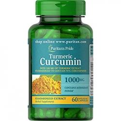Puritan's Pride Turmeric Curcumin 1000 mg with Bioperine 5 mg 60 caps วิตามินสมุนไพร ขมิ้นชัน จากอเมริกาค่ะ