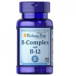 Puritan's Pride B-Complex and B-12 วิตามินบีรวม 180 เม็ด บีคอมเพล็กซ์ บำรุงร่างกายและระบบประสาทค่ะ