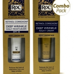 เซ็ต ROC Retinol Correcxion Deep Wrinkle Night และ Day หลอดละ 1.1 fl oz. (33 ml) ครีมลบเลือนริ้วรอย ร่องลึกบนใบหน้าที่ได้ผลดีมากๆค่ะ
