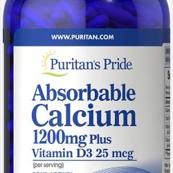 Puritan Absorbable Calcium 1200 mg. พร้อมวิตามิน D3 1000 IU จากอเมริกาค่ะ