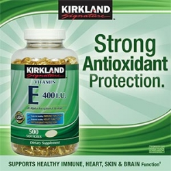 Kirkland Vitamin E 400 I.U - 500 เม็ด ช่วยบำรุงผิว และชะลอการเสื่อมสภาพของเซลล์ต่างๆในร่างกาย จากอเมริกาค่ะ