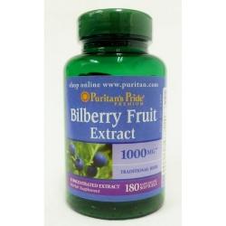 Puritan's Pride Bilberry Fruit Extract 1000 mg ขนาดใหญ่สุด 180 วิตามินบำรุงสายตาจากอเมริกาค่ะ