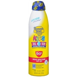 Banana boat Kids sunscreen lotion ultra mist SPF50+ ขนาด 6 OZ. (170 g.)จากอเมริกาค่ะ