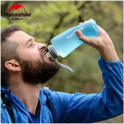 ขวดน้ำพับได้ Antibacterial Soft Bottle